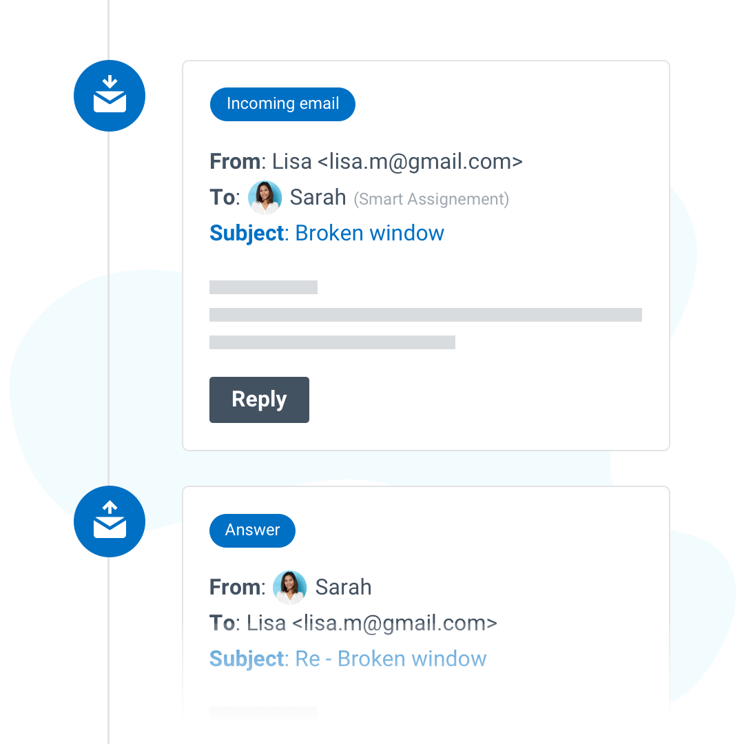 Rooftop email integration into tasks