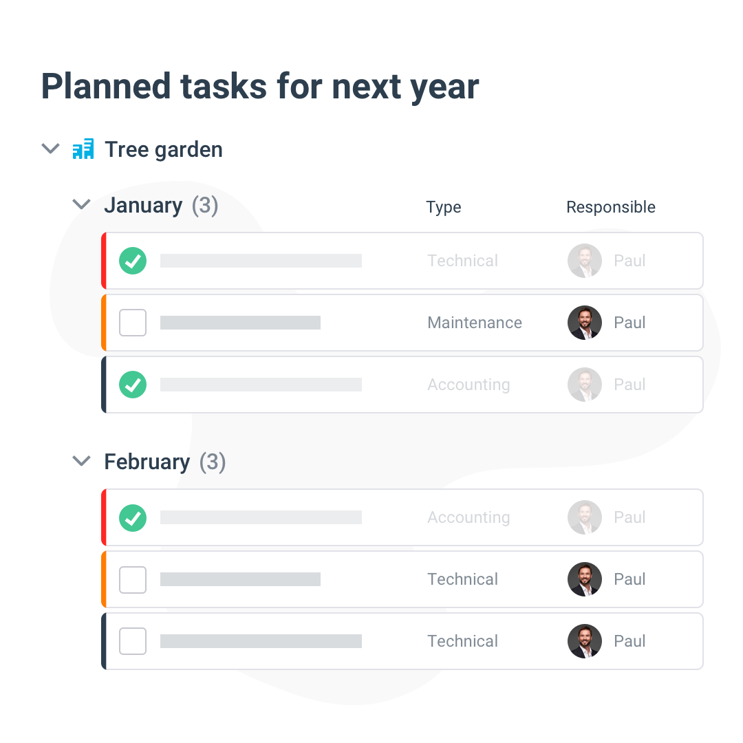 Rooftop recurring tasks