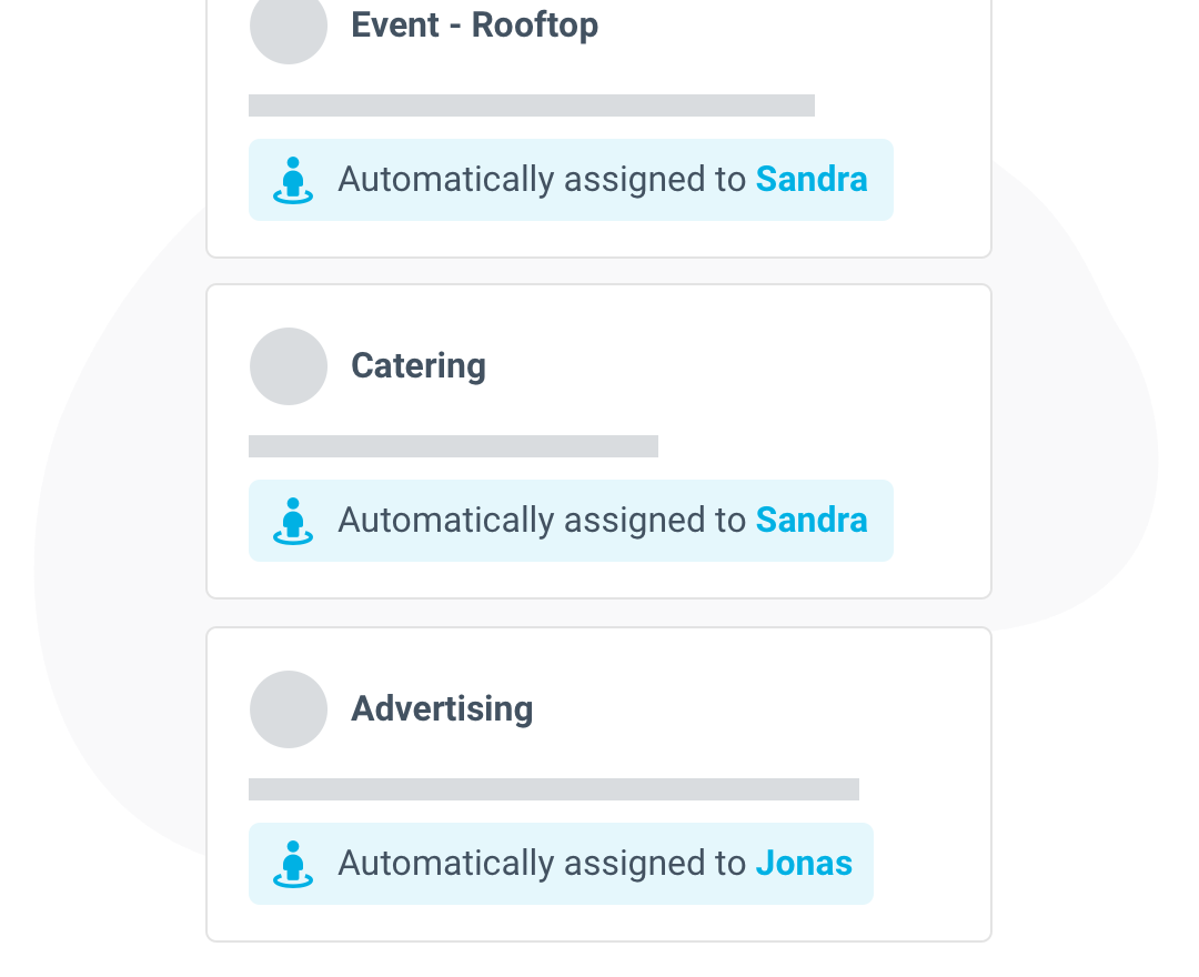 Rooftop automatically assign emails