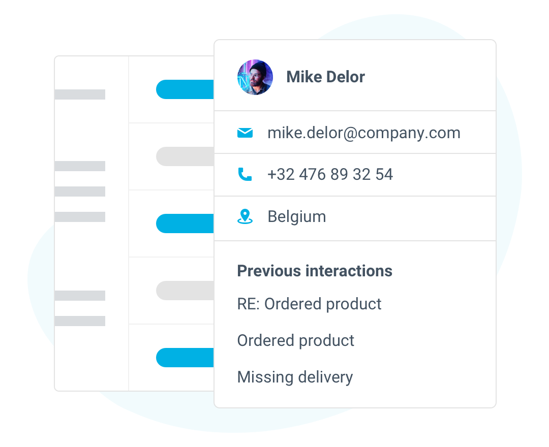 Customer profiles to see previous interactions