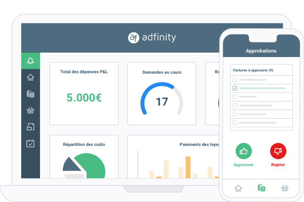 Adfinity Real estate dashboard header image
